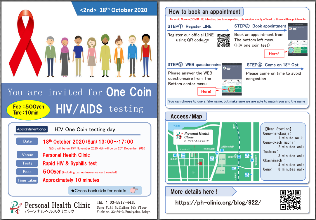 HIV one coin testing